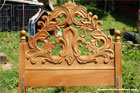 wood carving bed part